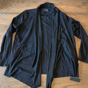 BLANK NYC Denim Black Cloud Nine Drape Jacket